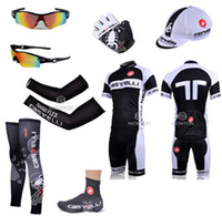 Wholesale 2014 castelli cycling jersey custom made short sleeve bib sets amp arms amp gloves amp legs amp caps amp Shoes covers amp cycling sunglasses