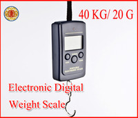 Spring Kitchen Scales  New Black 20g x 40Kg Digital Hanging Kitchen Srping Luggage Fishing Weight Pocket Scale