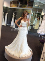 Wholesale New Arriva Strapless Strapless A line Crystal Sexy Lace Wedding Dress Bridal Gown