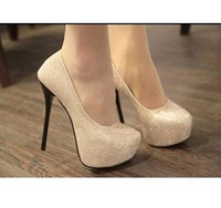 Wholesale The new Top Quality High Heel Glittering Women s Shoes Stiletto Pumps Lady s Dress Shoe xz022