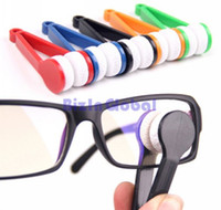 Wholesale 12X Microfibre Brush Glasses Eyeglasses Sunglasses Spectacles Cleaner Polisher Wiper