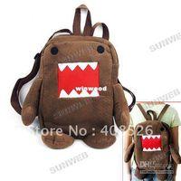 Wholesale Newest Domo Kun Figure Cartoon Cute Plush Backpack Soft Shoulder Bag School Brown