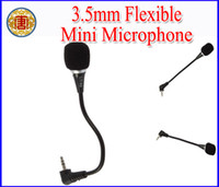 Wholesale 3x Mini mm Flexible Audio Microphone Mic For PC Laptop Notebook MSN Skype VOIP etc