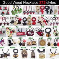 Men's hip hop jewelry - 30pcs Good Wood Wooden Hip Hop Dancer Goodwood Jewelry NYC High Quality Necklace styles To Choose