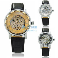 Wholesale Hot Skeleton Watch for Men Mechanical Watches Winner Business Luxury Watch Stainless Steel Wristwatch Business Watch