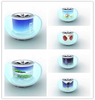 Wholesale Transparent Crystal Colorful Apple Small Mini Speakers For Mobile phone MP3 MP4 Little Speakers New