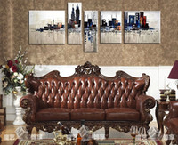 Wholesale 2014 Oil Paintings Three Dimensional Abstract Art Sofa Setting Wall Paintings High Quality Hand Painted Home Office Wall Art Decor
