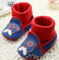 Unisex Summer Cotton Hot sales! Blue jean baby shoes. Cartoon set of socks toddler shoes. Kids casual shoes. Cheap soft-soled shoes.baby wear 6pairs 12pcs CL