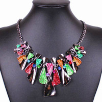 Wholesale Colorful Women Pendant Necklaces Alloy Delicate Lady Necklace Retro Ornament Jewelry Gift GHB