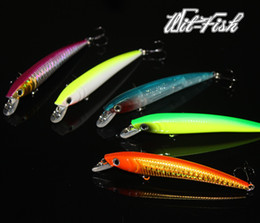 Wholesale Minnow of Fishing lures squid jigs hooks for salt and fresh water Freeshipping