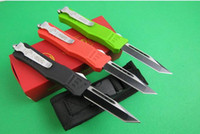 Wholesale Red Green Black Small Microtech combat Troodon Action OTF c blade HRC outdoor gear Survival knife Pocket camping knives K1129