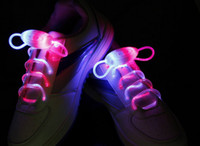 Wholesale 100pairs Latest model LED Flashing shoelace light up shoe laces Laser Shoelaces