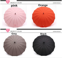 Wholesale Luxury Umbrella Confectionery Windproof Umbrella Long Handle Umbrella For Kids Adult Hot Pink Black Orange Grey Color