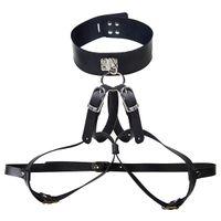 Bondage Rope & Tape bondage wear - 1pc Sensual Female Collar and Breast Leather Restraint Bondage Wear J2117
