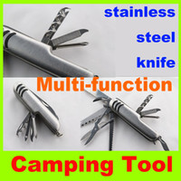 Wholesale 2014 new Outdoor mm Multifunctional Mini Tools switzerland stainless steel knife survival army knife outdoor gear camping folding knife