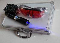 att shipping - Super Powerful High Power Blue Laser Pointer att Strong power military Burn Cigarette burn match candle Box glasses