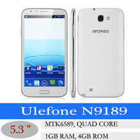 "Cheap 5.3"" Ulefone N9189 MTK6589 Quad Core android cell phone Android 4.2 3G Smartphone dual sim 3G 5.3 Inch Multi-Touch dual Camera GPS WIFI 5pcs"
