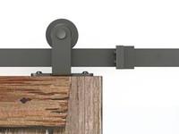 Steel barn door hangers - 183cm cm Rustic Vintage black sliding barn wood door hardware top mount wood closet door hanger track kit