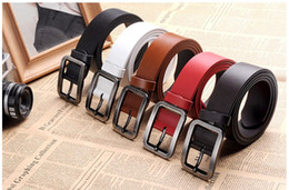 Wholesale Fashion Leather Wide Belts For Men Designer Simplicity Style Formal Office Mens Brand New Belt L586