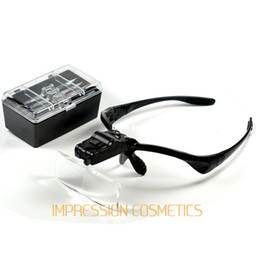 Wholesale Lens X1 X2 X2 X3 X Head Headband LED Headlamp Lighted Magnifying Magnifier Glass Function Loupe RUA