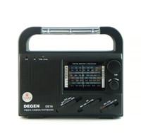 emergency radio - DEGEN DE16 FM FML MW SW Crank Dynamo Solar Power Emergency Radio World Receiver Energy saving A0901A