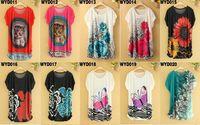 Wholesale 2015 summer women T shirt short sleeve O neck loose pullovers D printed ice silk shirt big yard