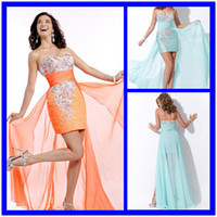 Reference Images Sweetheart Chiffon 2014 Sexy Cheap Fashion Sweetheart Graduation Dresses For College Sequins Party Pageant Dress High Low Crystal Cocktail Gowns 0325B