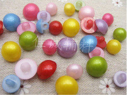Wholesale 100 x Assorted mm Mushrooms Pattern Hole ABS Buttons For Sewing
