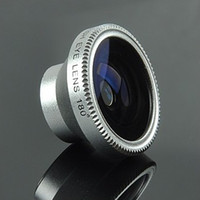 Universal 4 colors Retail packing Universal Fisheye Mobile Phone Camera Lens
