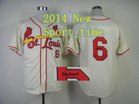 Baseball baseball jerseys - St Louis Cardinal Stan Musial cream autographed authentic baseball jerseys new arrival cheap stitched jersey brand sports jerseys