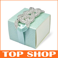 Favor Boxes Blue Paper DIY Wedding Candy Box Wedding Favor Boxes