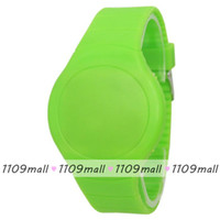 Wholesale New Arrival Fresh Design Plastic Silicone Lady Watch Shining LED Children Watch Ultrathin Touch Screen Digital Men Sports Watch Pupil Watch