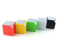 Wholesale Cube Mini Bluetooth small box Speakers well know speaker For Phone loud speakers Mix Color with retail package