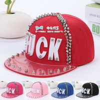 Ball Cap choose number  Woman HOT sale 2014 Free shipping New fashion ball cap rivet cap letters FUCK hat Flat brim hat women and man cap 5 colors