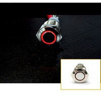 Cheap 2pcs 12V 16mm RED Led Angel Eye Push Button Metal Momentary Switch for Car Boats DIY