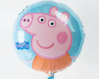 Wholesale High quality Peppa Pig foil balloon Birthday party decoration cartoon balloons