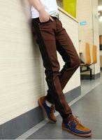 men color jeans - Hot Korean jeans male fashion fight the color pressure Zou Men Slim small feet stretch denim