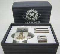 Electronic Cigarette Set Series  Hammer E Pipe Mod Full Mechanical Mod w  2 Extension Tubes for 18350 18650 Battery
