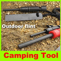 Wholesale 2014 new Picnic flint travel hiking fire starter Magnesium Flint Stone outdoor gear camping mini flintstone High quality hot sell now