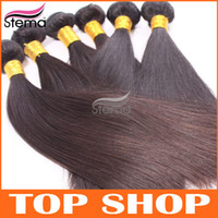 Wholesale 20inch unprocessed Indian hair extensions straight hair Indian virgin human hair has a smooth gloss and excellent feel F008