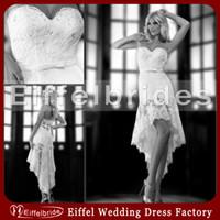 Reference Images bead embellished - Glamorous Short Beach Wedding Dresses with Stunning Shiny Beaded Lace Sweetheart Neckline and Embellished Hi Lo White Bridal Gowns