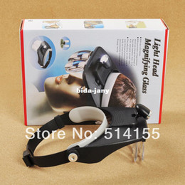 Wholesale MG81001 A Headband Magnifier With LED Light Eye Glasses Style Loupe X X X X