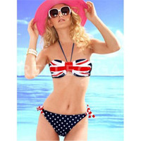 Wholesale Union Jack bikini swimwear swimsuit sexy bikini factory direct fission swimsuit swimsuit dress suit