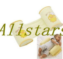 Wholesale Retail Cute baby sleeping shaping pillow toddler cotton anti roll sleep pillow D