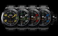 Wholesale Men s Analog Digital Multi Functional Black Dial Black Steel Band Wrist Watch Assorted Colors