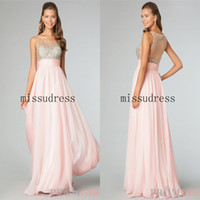 Reference Images Crew Chiffon Wow! So Fanstastic Crew Top Sheer Beads Embellished Long Chiffon Prom Gown Free Shipping Charming Pageant Dress Party Dress Custom Made