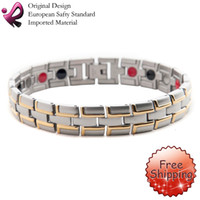 Wholesale Fashion Jewelry Healing Magnetic L Stainless Steel Bracelet For Men Or Women With FIR quot OSB SG