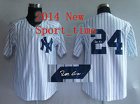 Men autographed baseballs - Yankees Blank White Pinstripe Jersey Robinson Cano autographed baseball jerseys new arrival high quality cheap outdoor apparel