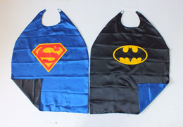 Wholesale 90cm Superman Batman Double Sided reversible Cape BLUE front BLACK back for Children for Christmas Halloween Holiday Birthday Party