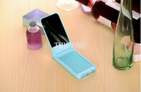 Wholesale Glow in The Dark case flip mirror iphone case card case holder iphone mirror case candy color make up mirror case hot selling products
